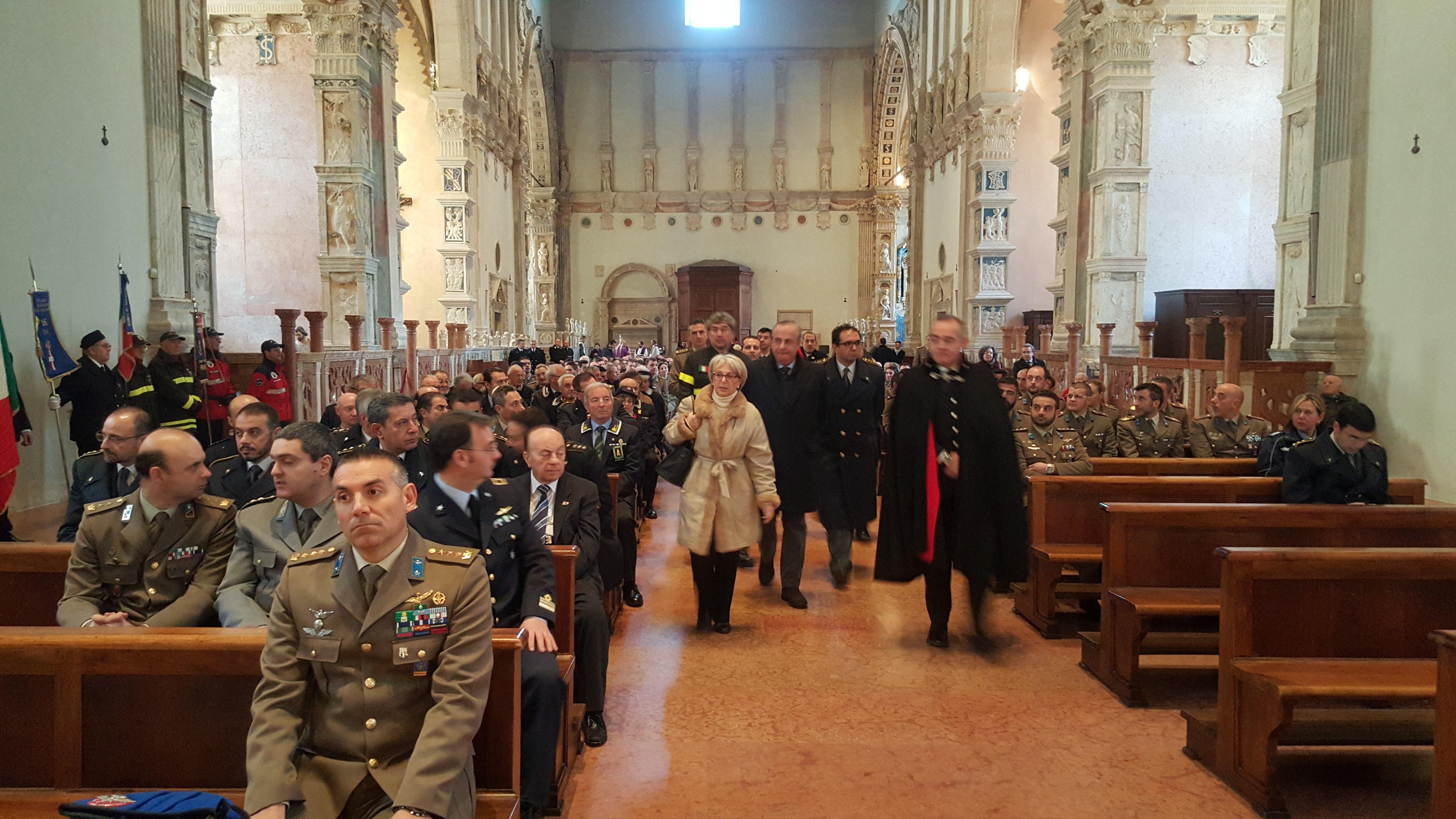 Messa delle Forze Armate in Duomo a Rimini il 18 Dicembre 2015